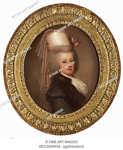 Portrait of Queen Marie Antoinette of France (1755-1793), 1789. Artist: Wertmüller, Adolf Ulrik (1751-1811)