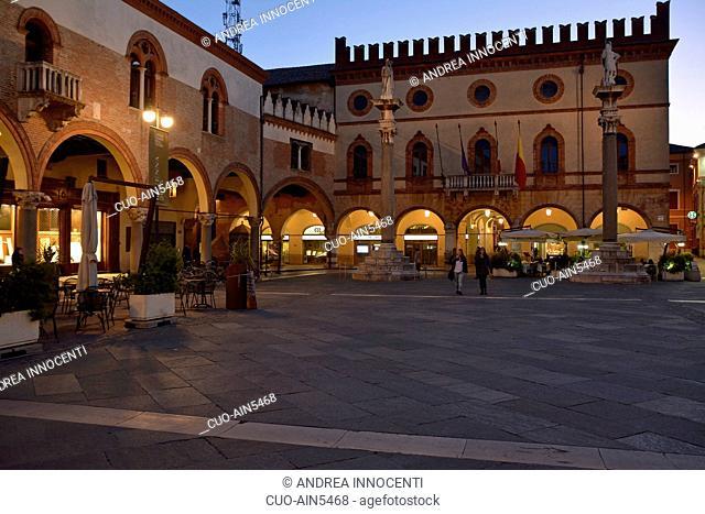 Piazza del Popolo square, Ravenna, Emilia Romagna, Italy, Europe