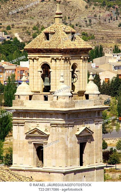 Caravaca de la Cruz (Murcia) Spain. Bell tower of the Town of Caravaca de la Cruz