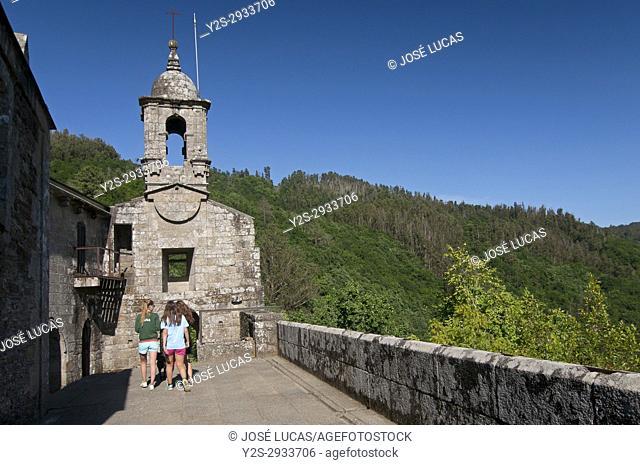 Benedictine monastery of San Juan de Caaveiro (10th century), Pontedeume, La Coruña province, Region of Galicia, Spain, Europe