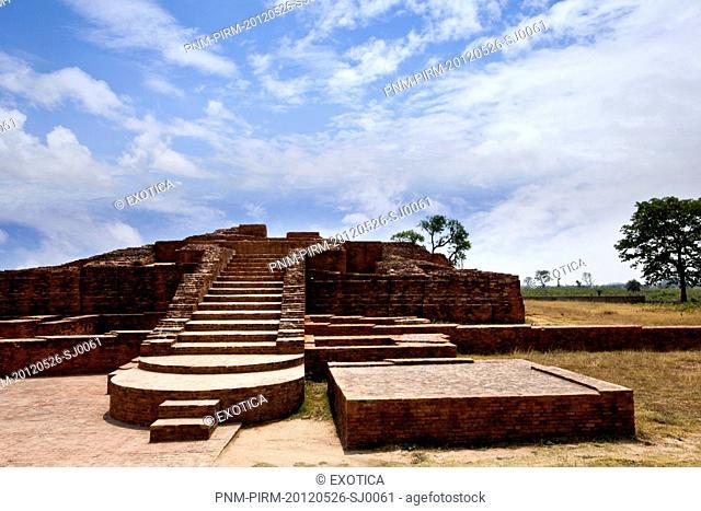 Ruins at an archaeological site, Kachchi Kuti, Sravasti, Uttar Pradesh, India