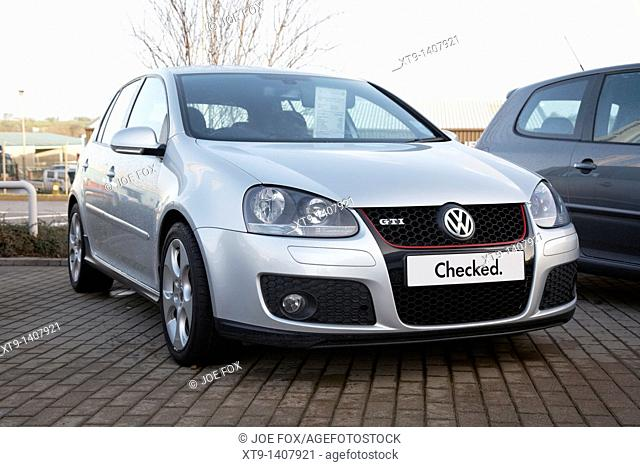 used golf gti approved checked volkswagen used cars on a used car lot in the uk