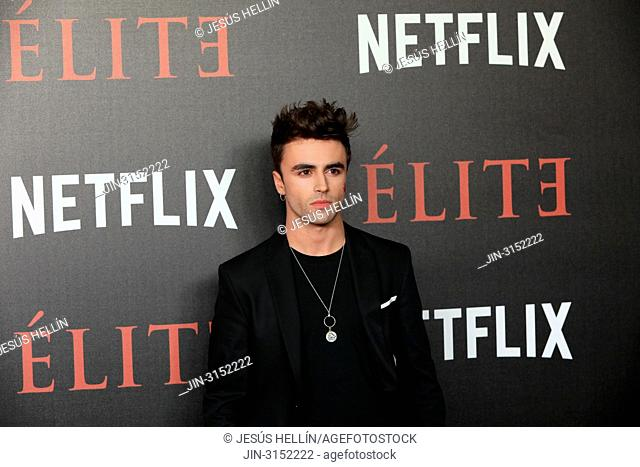 Actor ITZAN ESCAMILLA attends 'Elite' premiere at Reina Sofia Museum. Premiere of the Élite series, which premieres Netflix -it is its second Spanish original...