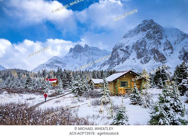 Cabin of Mount Assiniboine Lodge, Mount Assiniboine Provincial Park, British Columbia, Canada
