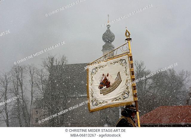 Georgiritt', horse pilgrimage at Traunstein