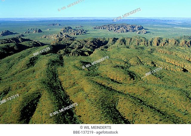 Aerial photo of Purnululu National Park