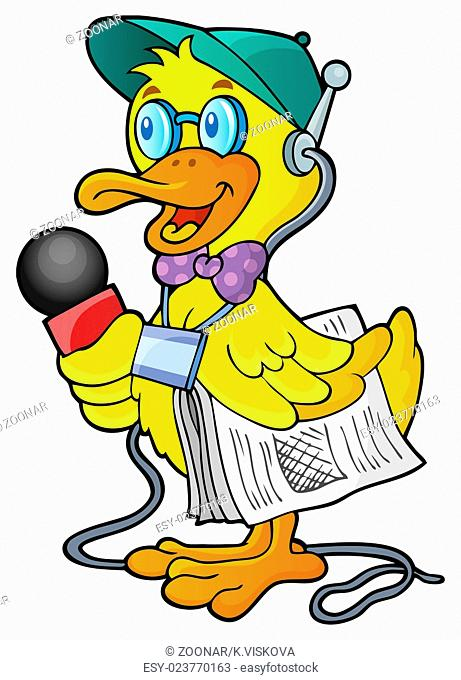 Duck reporter theme image 1 - picture illustration