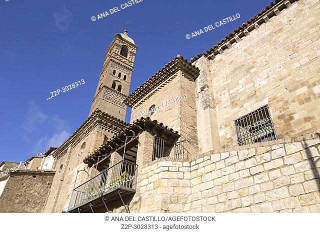 Tarazona de Aragon is a historic town in Aragon, Spain.Magdalena church and minaret