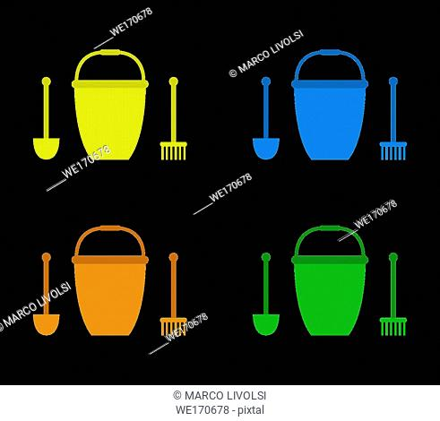 bucket and spade icon