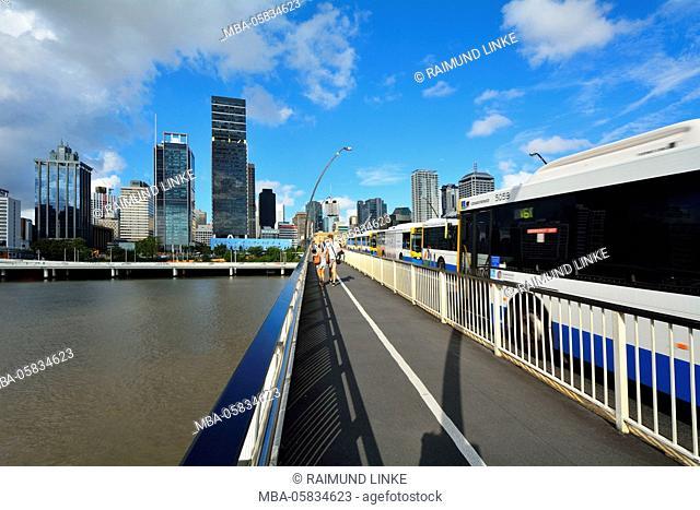 Victoria Bridge and Skyline, Brisbane, Queensland, Australia