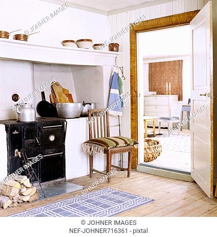 An old-fashioned Scandinavian kitchen, Sweden