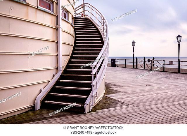 Stairs, Worthing Pier, Worthing, Sussex, UK