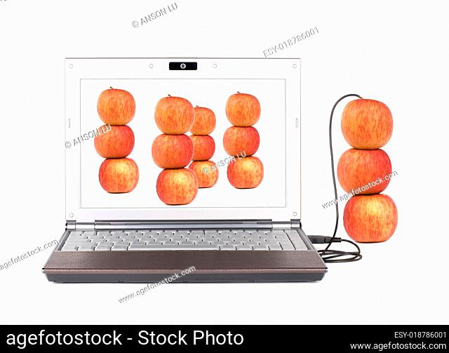 Upload and Copy real apple