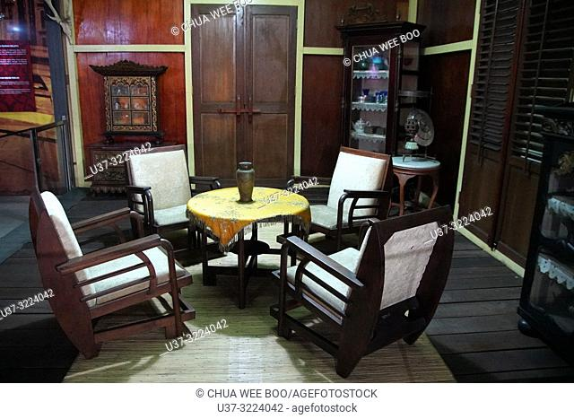 Old chairs displayed in the Museum Kalimantan Barat, Pontianak, Indonesia