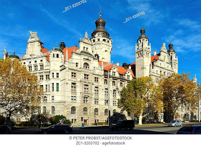 New town hall in the Saxon city Leipzig - Germany