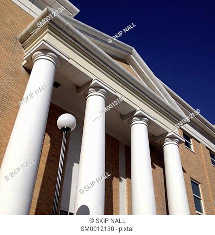 Pillars of a county courthouse