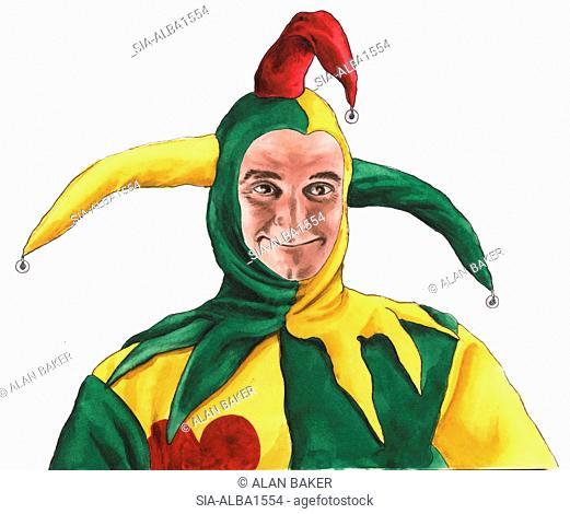 Portrait of jester
