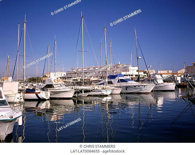 Costa Calida. Cabo de Palos. Harbour. Boats moored