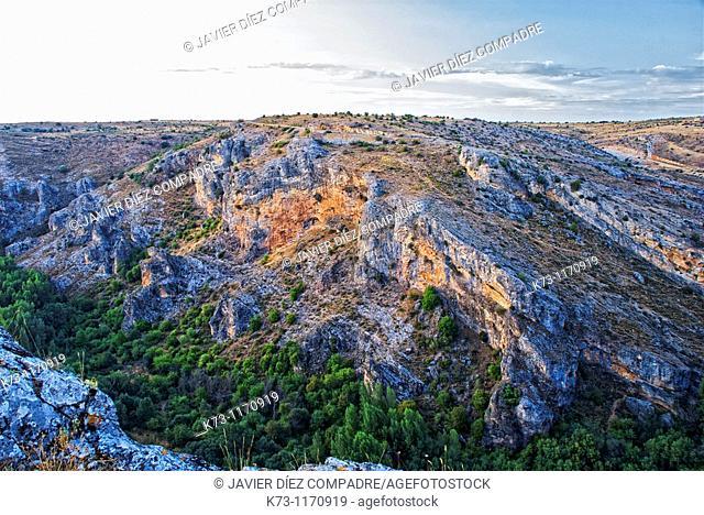 Pelegrina. Barranco del Rio Dulce Natural Park. Guadalajara province. Castilla-La Mancha. Spain