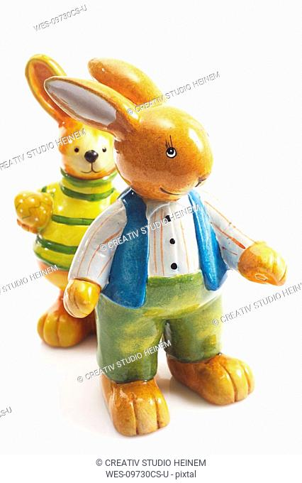 Easter bunny figurines