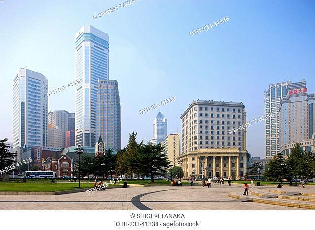 Skyscrapers at Zhongshan Square, Dalian, China Dalian China