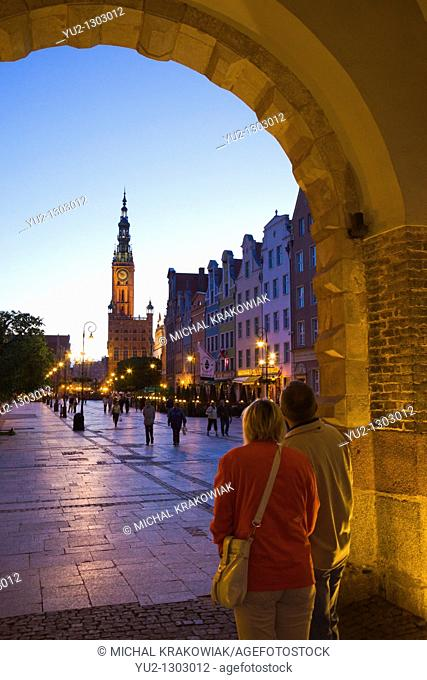 Old Town of Gdansk with historical town hall tower