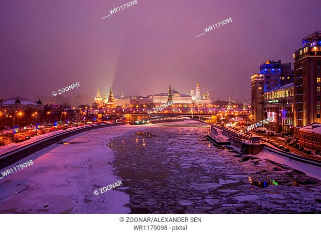 Moscow Kremlin And Variety Theater