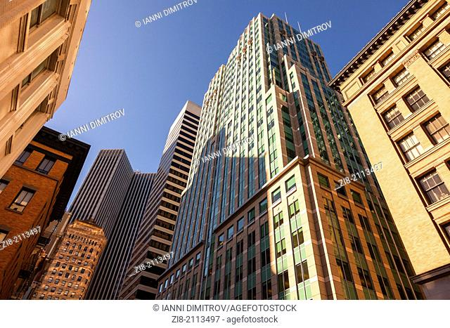 Skyscrapers and office buildings in the financial district,San Francisco,California,USA