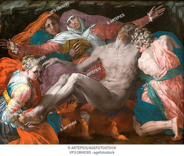 . Giovanni Batista di Jacopo, aka Roso Fionrentino. Pieta. . Paris - Louvre Museum