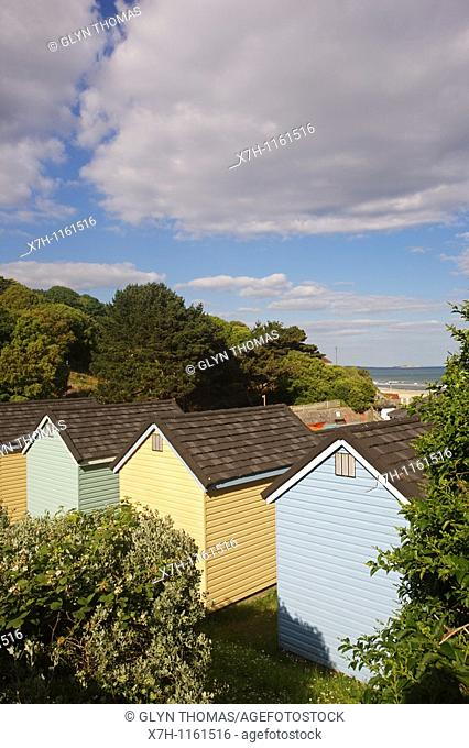 Wooden chalets at Alum Chine, Bournemouth, England