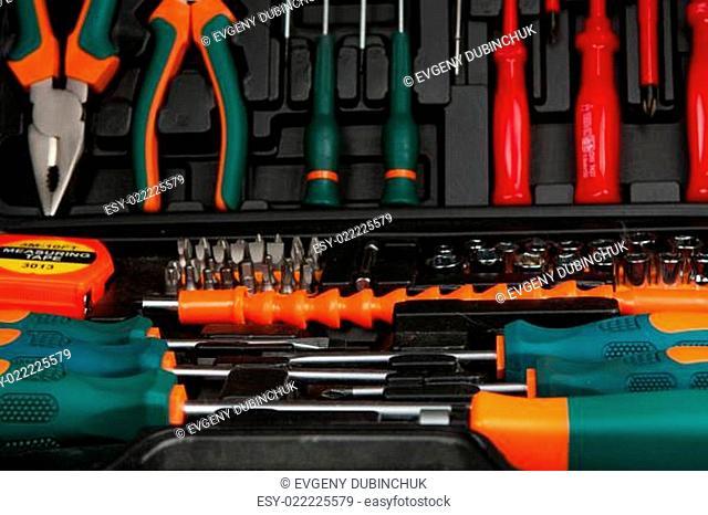 Tool kit in black box