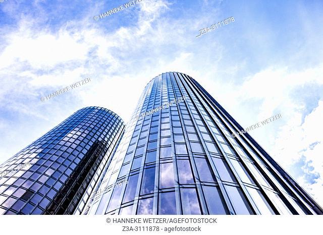 Newly built Z-Towers in Riga, Latvia, Europe