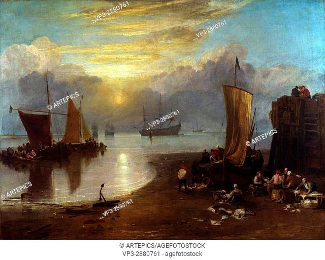 William Turner Sun Rising through Vapour - National Gallery London