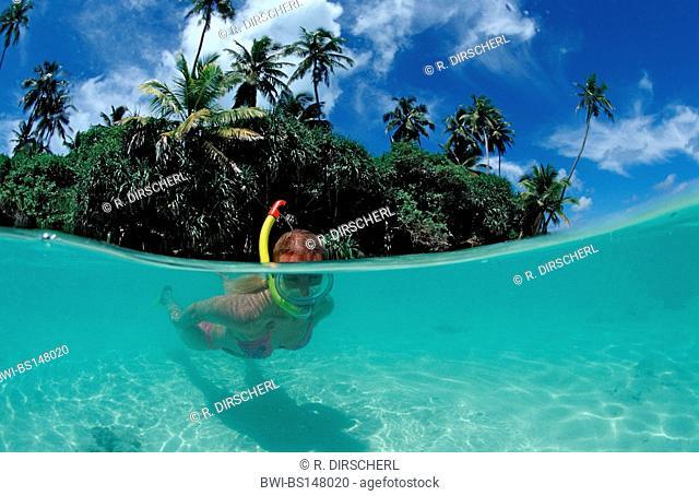 Snorkeling at Maldives, Maldives, Indian Ocean, Meemu Atoll