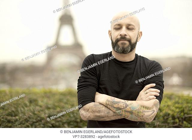 man in Paris, France