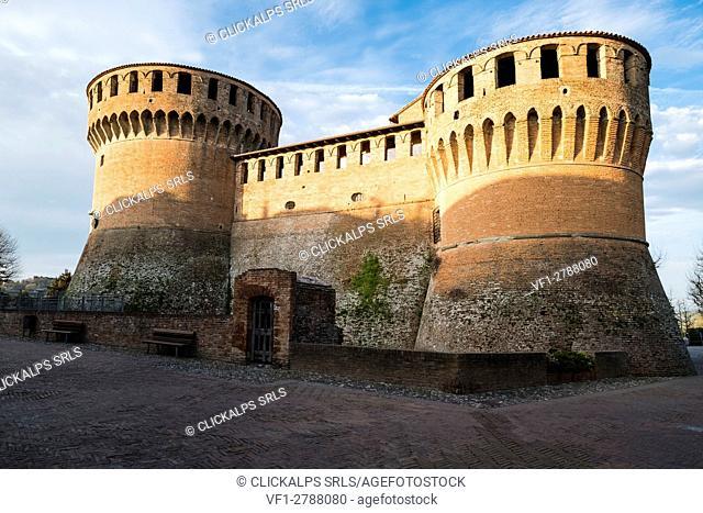 Dozza, Bologna, Emilia Romagna, Italy, Europe. The medieval fortress