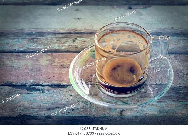 Empty coffee cup in vintage