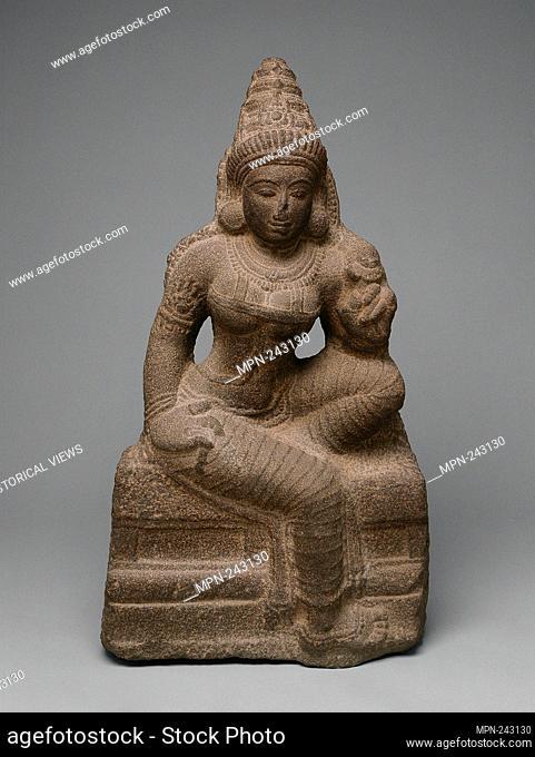 Goddess Shridevi, Consort of Vishnu - c. 1100 - India Tamil Nadu, Madurai - Origin: Madurai, Date: 1095–1105, Medium: Granite, Dimensions: 86.7 x 46