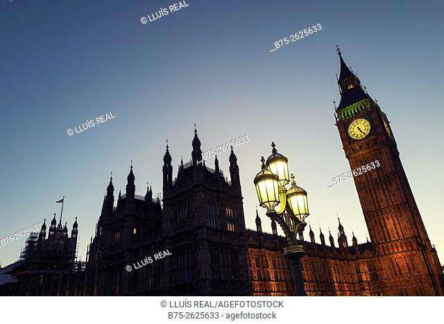 House of Parliament and Big Ben in the evening. City of Westminster, London, England, United Kingdom , Europe