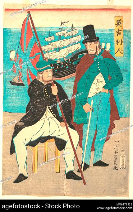 Igirisujin/Englishmen. Artist: Utagawa Yoshikazu (Japanese, active ca. 1850-1870); Period: Edo period (1615-1868); Date: 1861; Culture: Japan; Medium:...