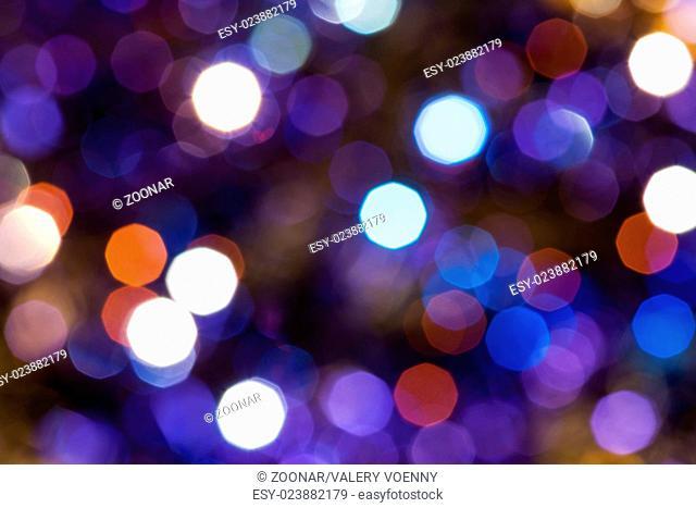 dark blue and violet twinkling Christmas lights