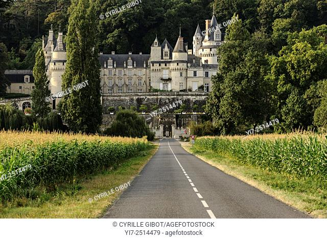 France, Loire Valley, Usse, Usse Castle, Château d'Ussé. It is said that Charles Perrault took it as inspiration for his tale of Sleeping Beauty