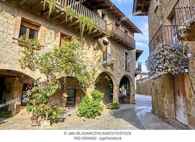 City of Santa Pau, Girona province, Catalonia, Spain