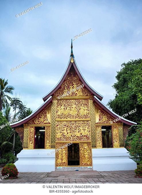 Funerary chapel in the temple Wat Xieng Thong, Luang Prabang, Laos