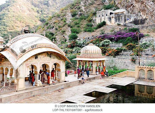Galta also referred to as The Monkey Temple in Jaipur