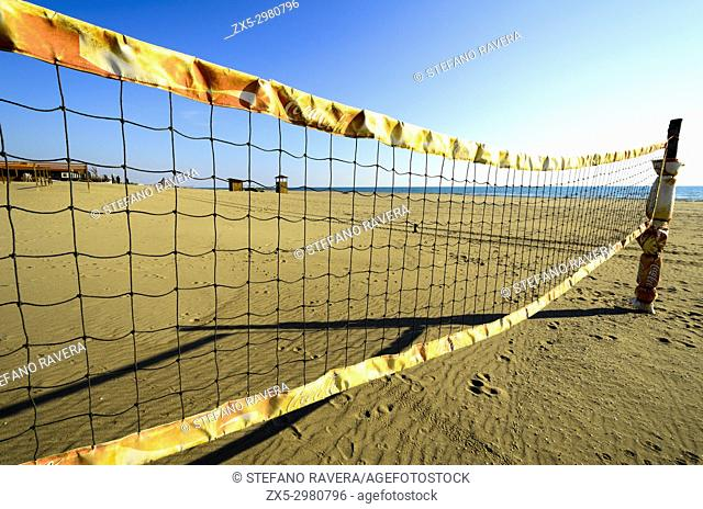 Beach volley net - Ostia Lido, Rome, Italy
