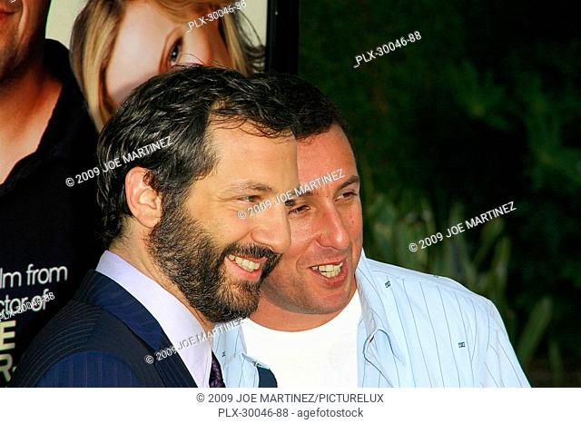 Judd Apatow and Adam Sandler at the Premiere of Universal Pictures' Funny People- Arrivals held at the Arclight Cinema in Hollywood, CA July 20, 2009
