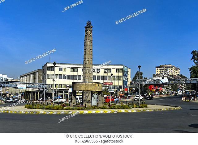 Victory Monument in Arat Kilo, Meyazia 27 Square or Arat Kilo, Addis Ababa, Ethiopia