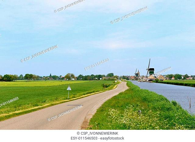 Typical Dutch landscape