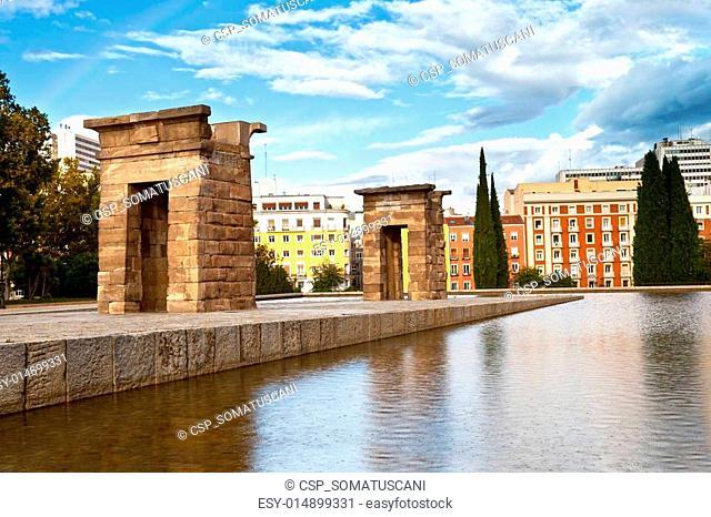Debod Temple in Madrid